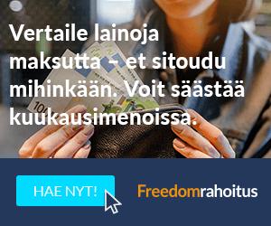 Freedom Rahoitus lainojen kilpialuttaminen