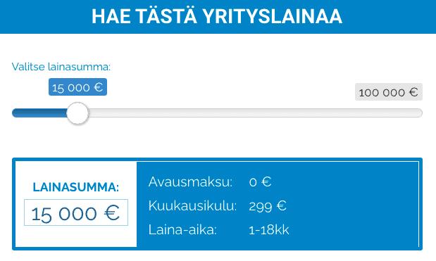 Suomen Yrityslaina Lainalaskuri